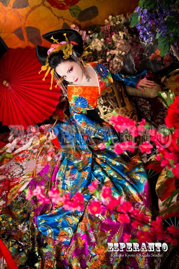 京都 花魁体験 写真 撮影