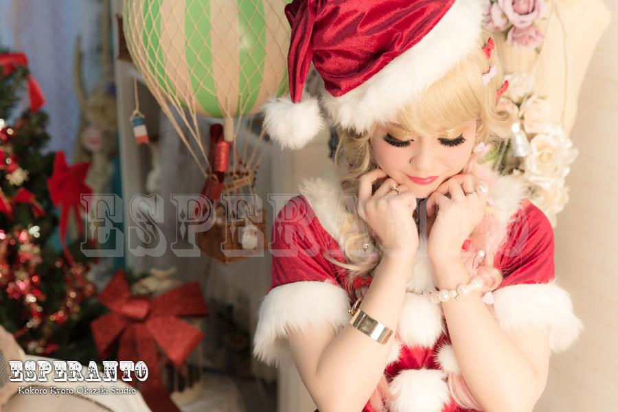 京都 変身写真 クリスマス サンタ コスプレ