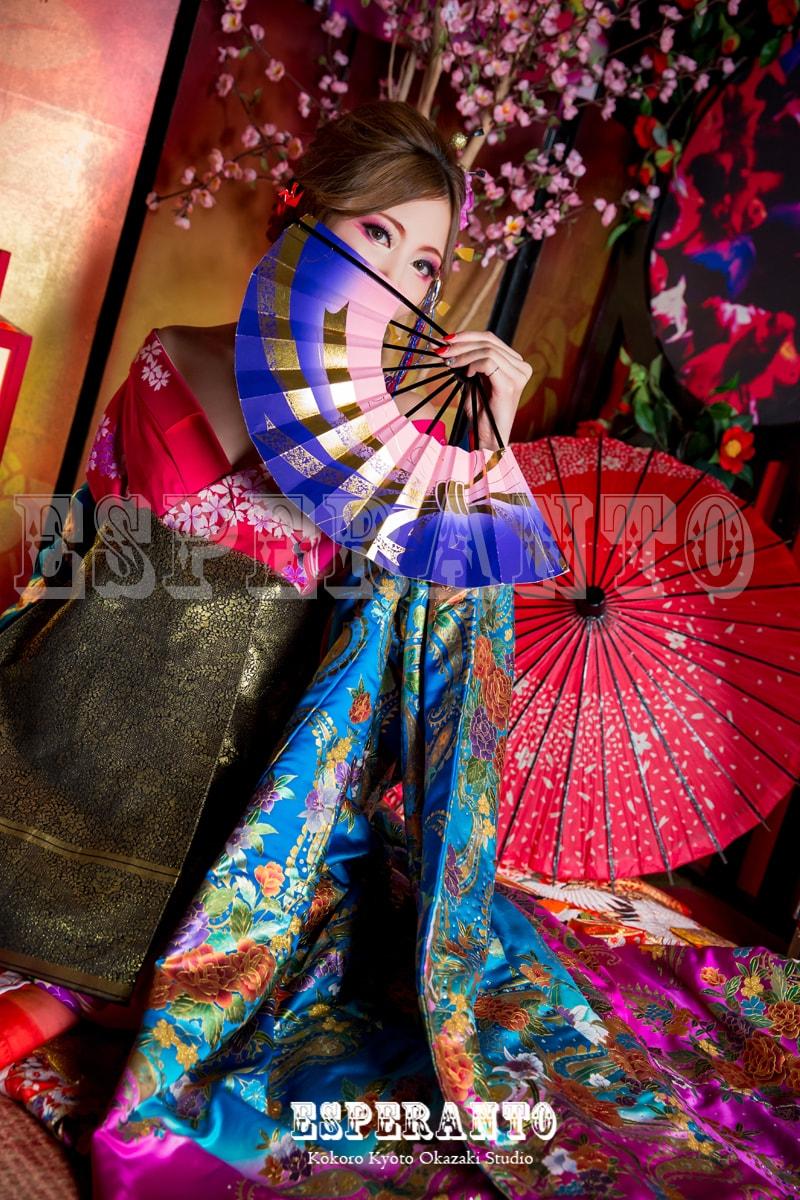 京都岡崎で花魁体験