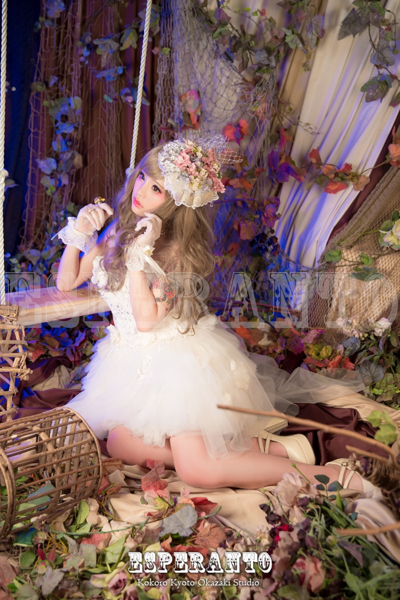 京都でドレスの変身写真