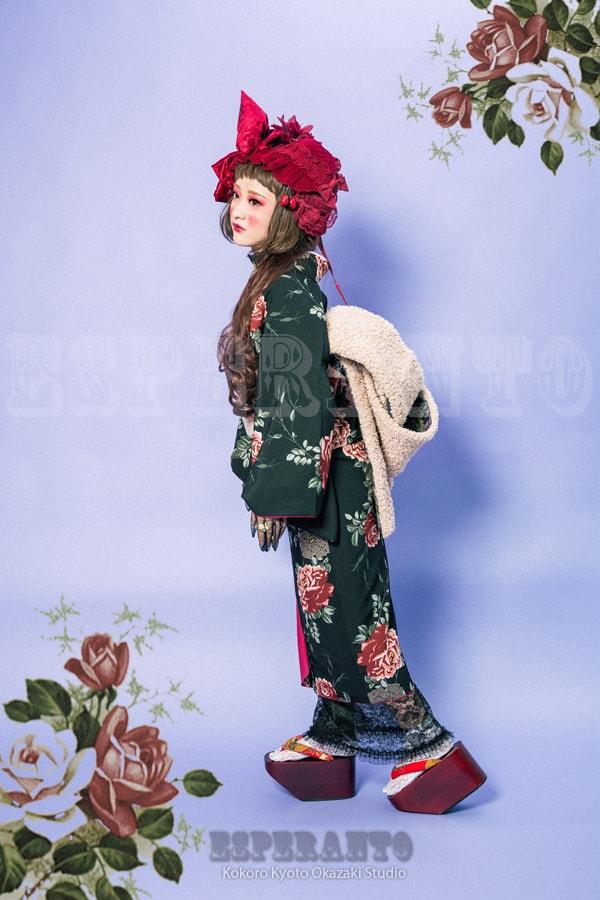 豆千代の新作着物でココヒメ体験