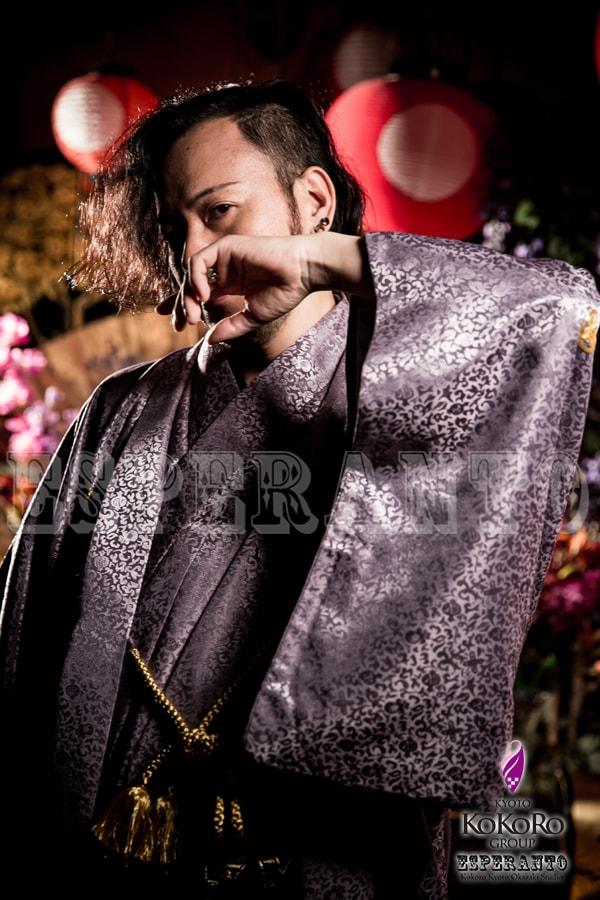 京都エスペラントで花魁体験カップルプラン撮影