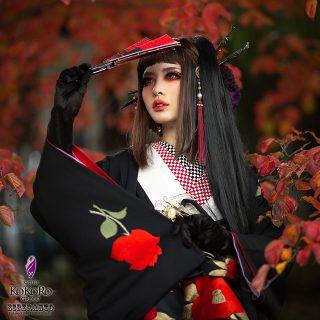 Autumn leaves kimono
