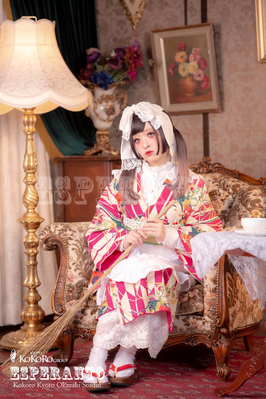 豆千代モダンのお着物でレトロモダンなお着物遊び