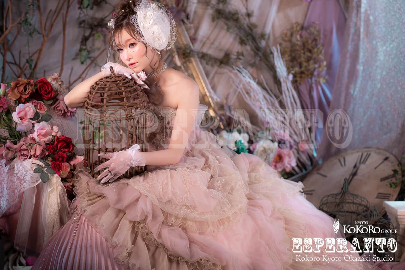 ウェディングドレス変身写真