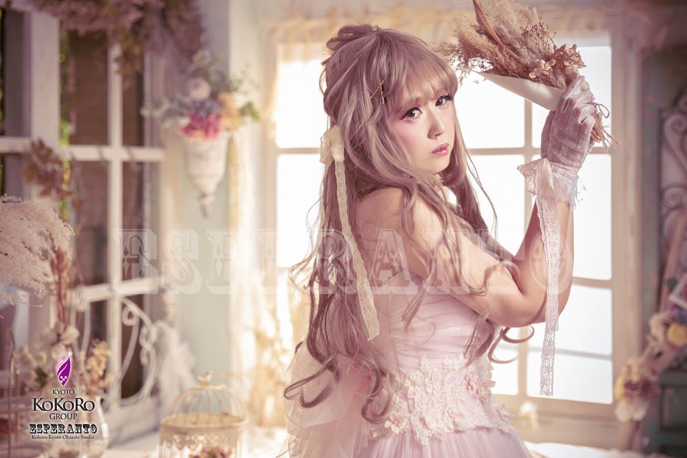 ドレス 変身写真