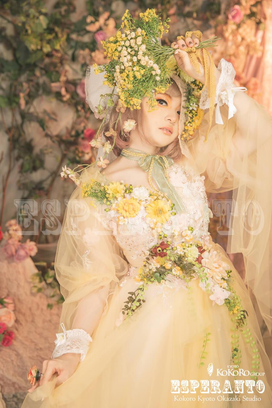 お花をモチーフにしたドレス体験